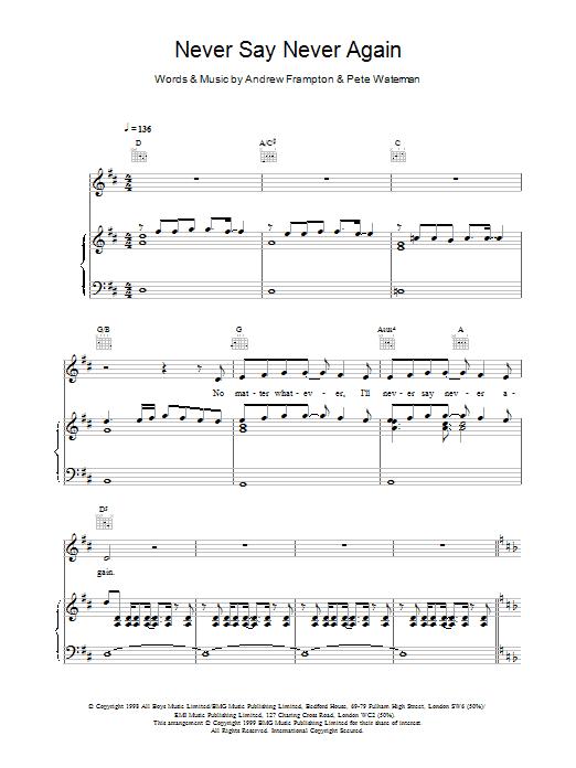 Never Say Never Again sheet music