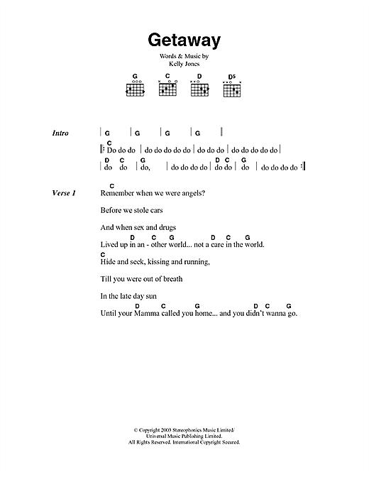 Getaway sheet music