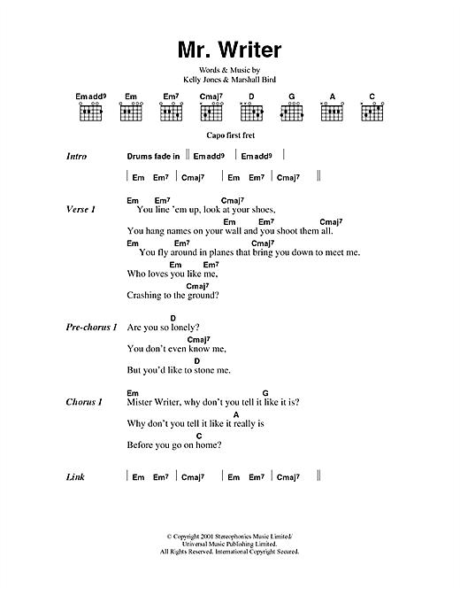 Mr. Writer sheet music