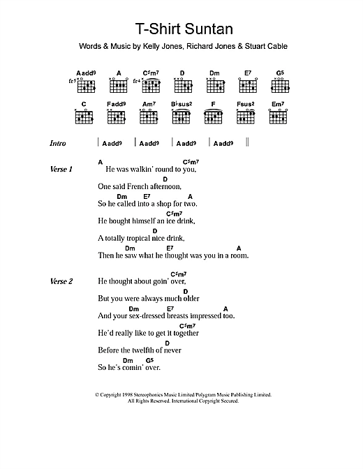 T-Shirt Suntan sheet music