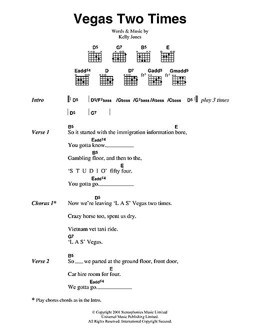 Vegas Two Times sheet music