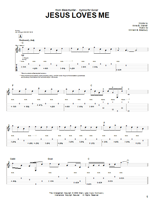Jesus Loves Me sheet music
