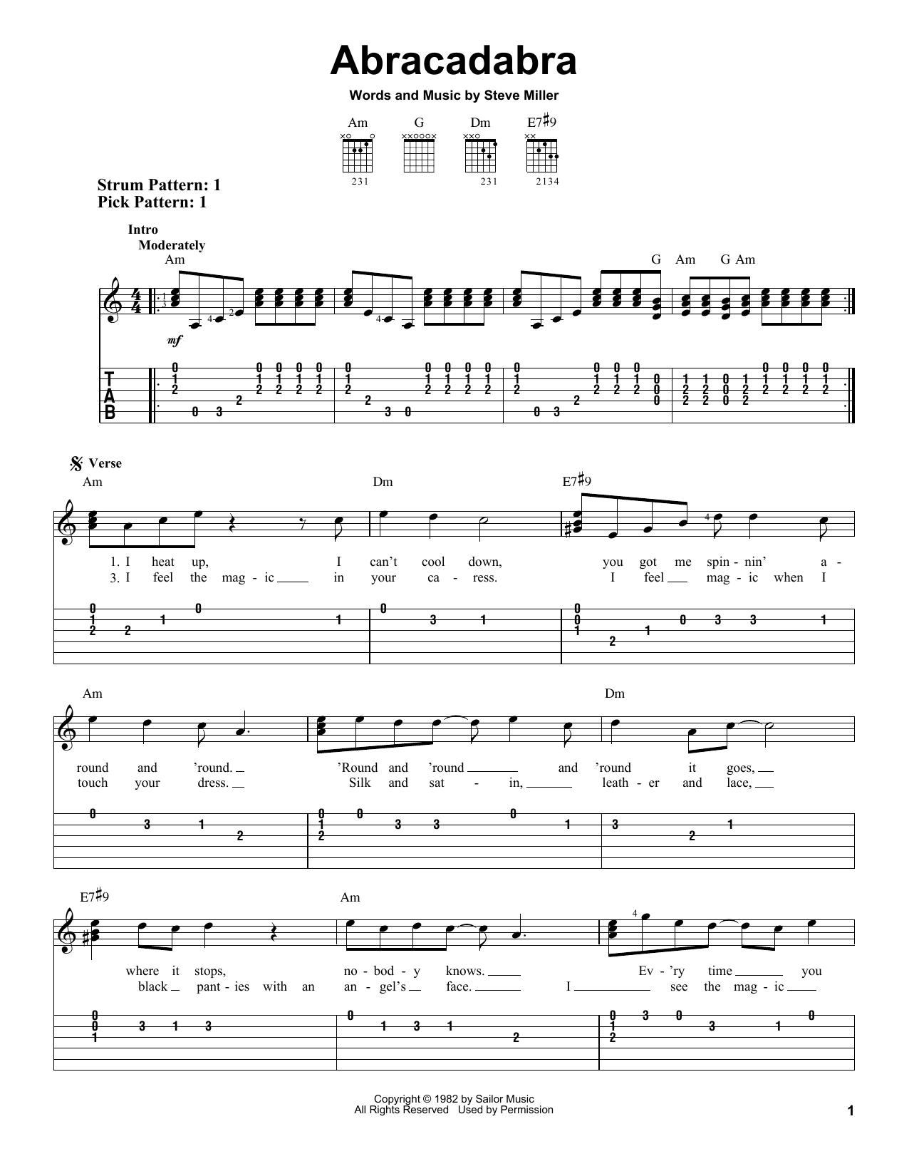 Abracadabra sheet music