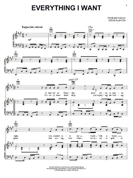 Everything I Want sheet music