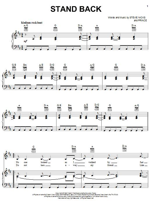 Stand Back sheet music