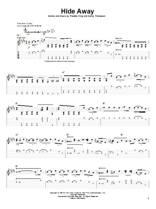 Hide Away sheet music