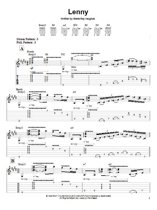 Lenny sheet music