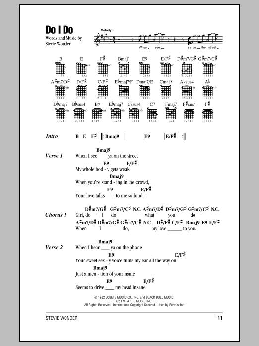 Do I Do sheet music