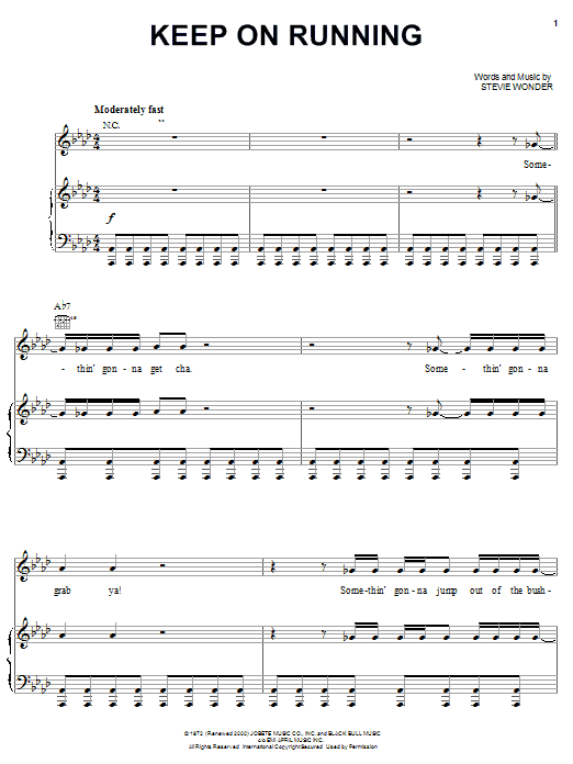 Keep On Running sheet music