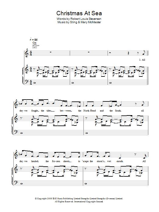 Christmas At Sea sheet music