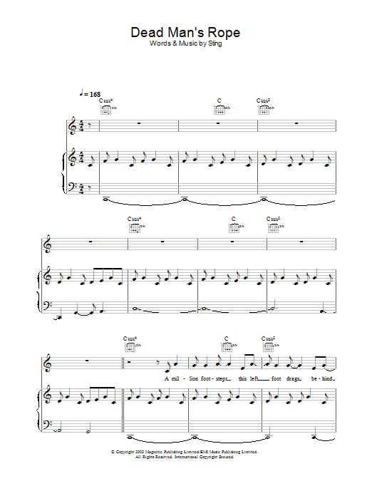 Dead Man's Rope sheet music