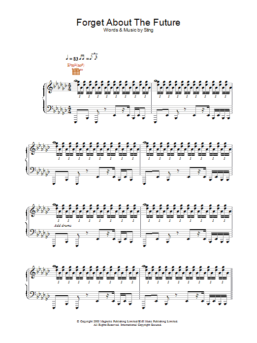 Forget About The Future sheet music