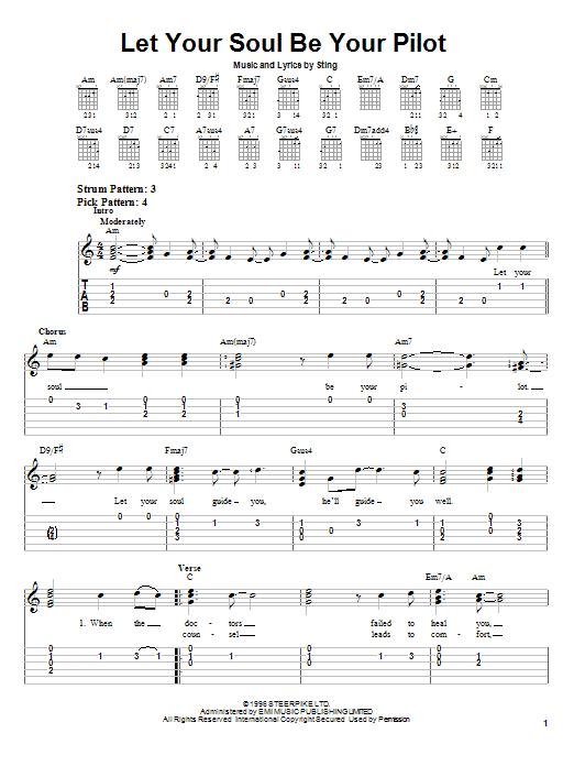 Let Your Soul Be Your Pilot sheet music