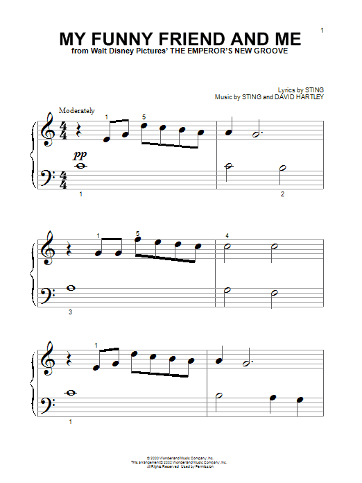 My Funny Friend And Me sheet music
