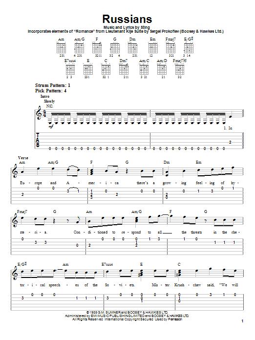Russians sheet music