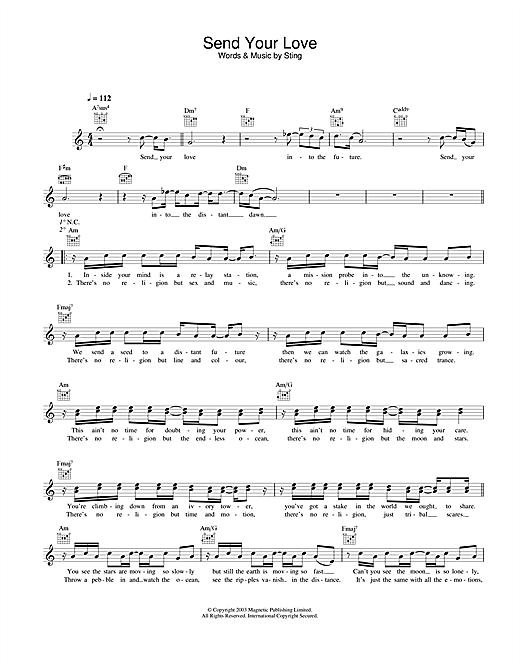 Send Your Love sheet music