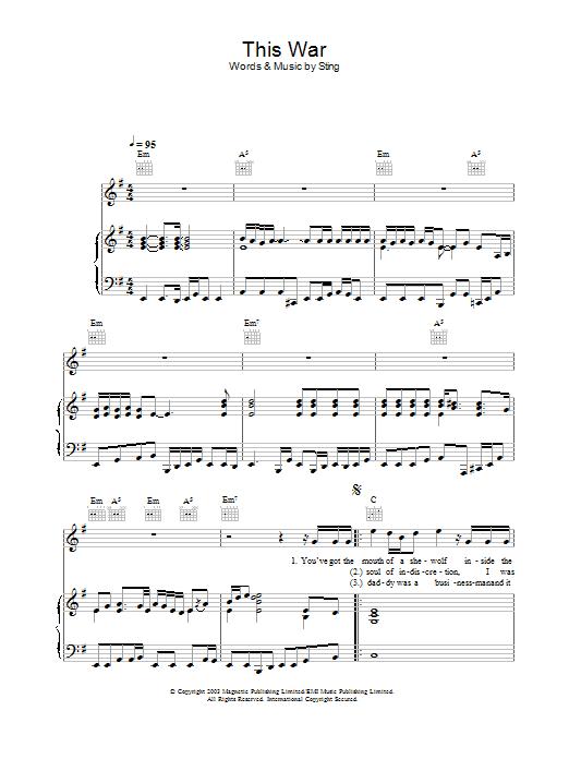 This War sheet music
