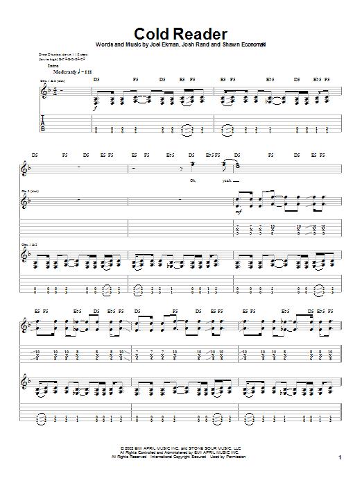 Cold Reader sheet music