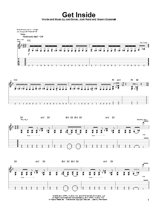 Get Inside sheet music