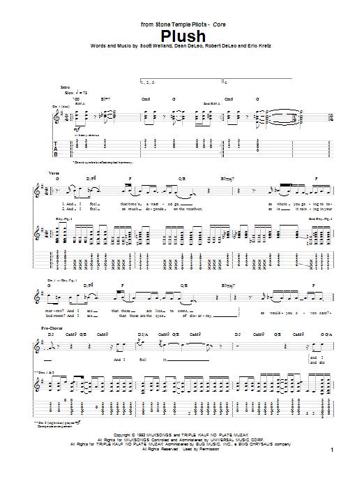 Plush sheet music
