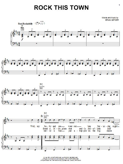 Rock This Town sheet music