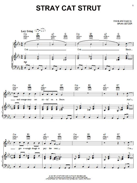 Stray Cat Strut sheet music