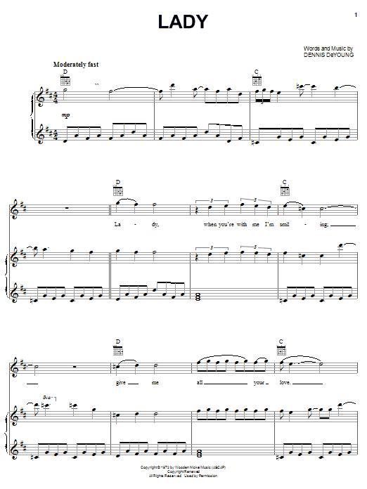 Lady sheet music