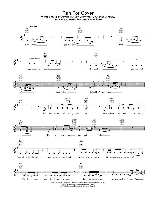 Run For Cover sheet music