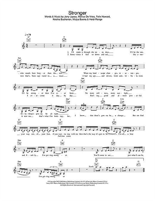 Stronger sheet music