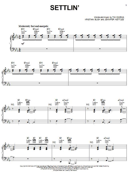 Settlin' sheet music