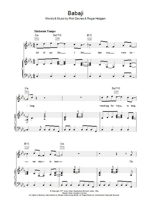Babaji sheet music