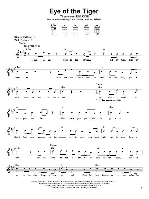Eye Of The Tiger sheet music