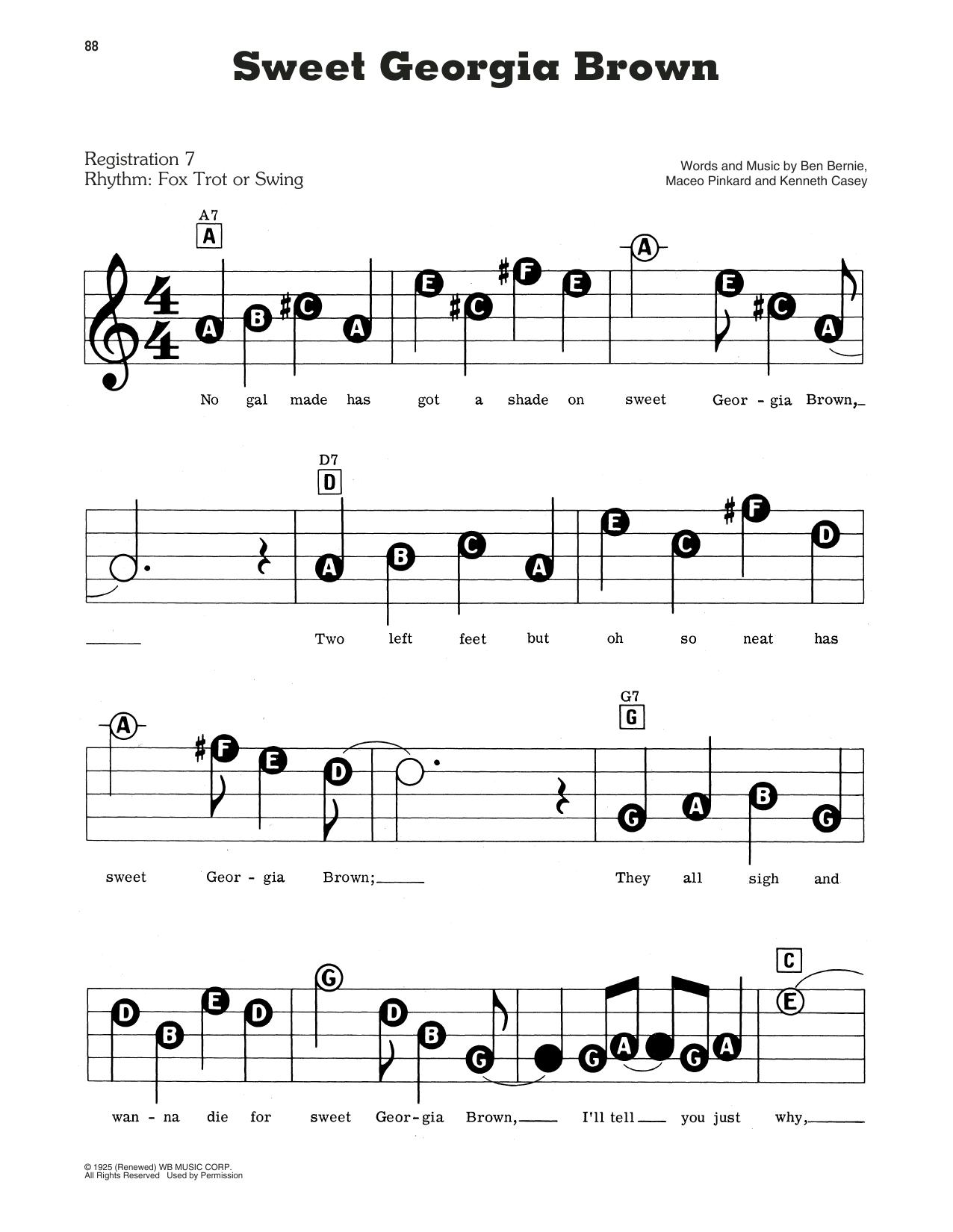 Count Basie Sweet Georgia Brown Sheet Music Download Pdf Score 403898