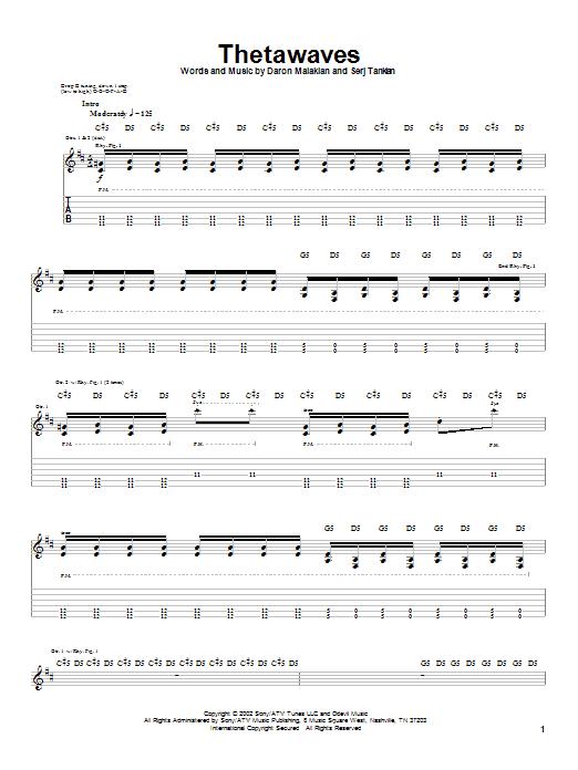 Thetawaves sheet music