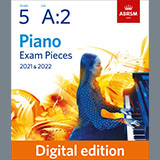 Download T. A. Arne Presto (Grade 5, list A2, from the ABRSM Piano Syllabus 2021 & 2022) sheet music and printable PDF music notes