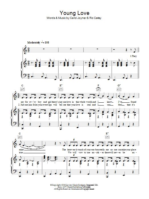 Young Love sheet music