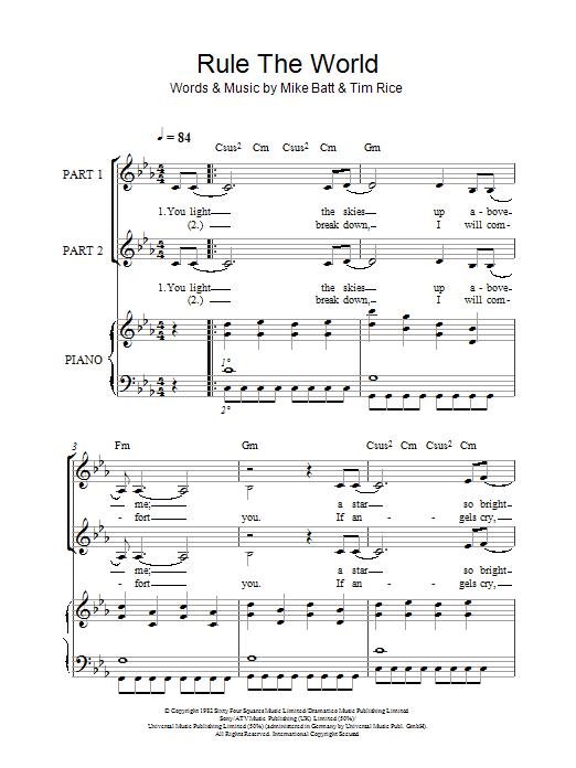 Rule The World (arr. Rick Hein) sheet music