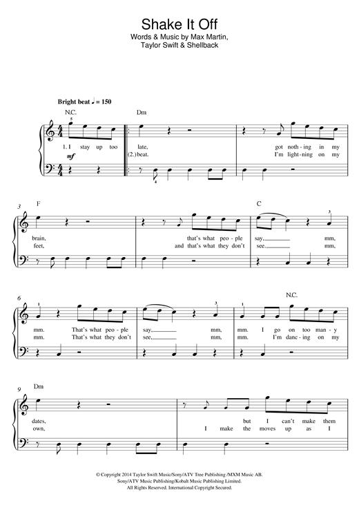Shake It Off sheet music