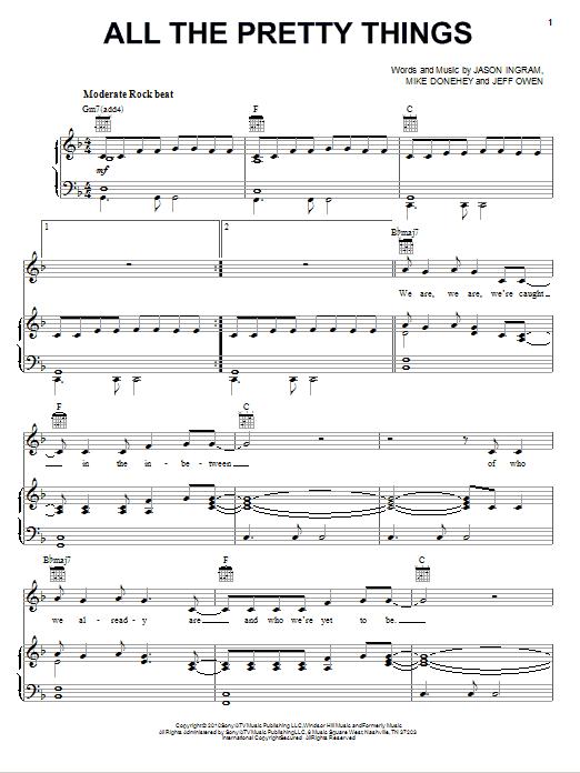 All The Pretty Things sheet music