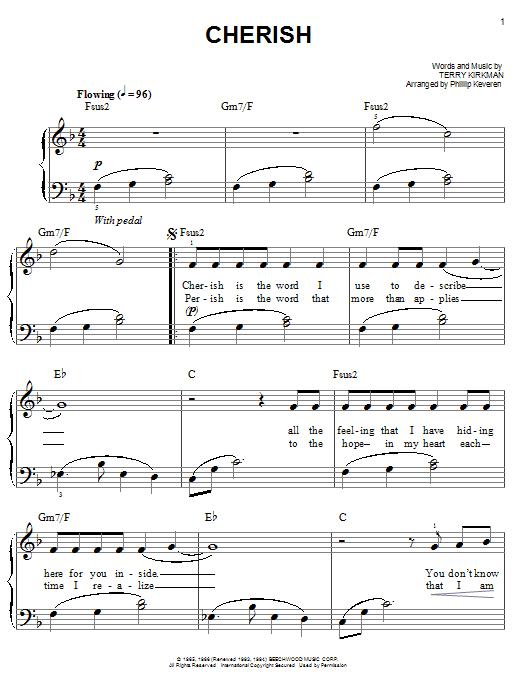 Cherish (arr. Phillip Keveren) sheet music