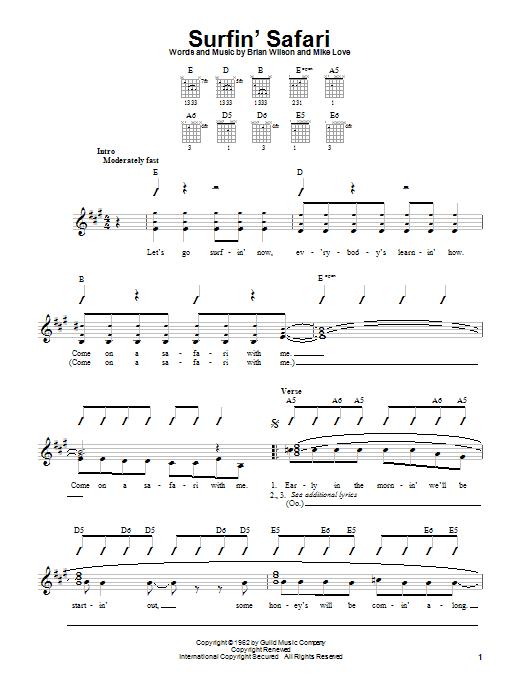 Surfin' Safari sheet music