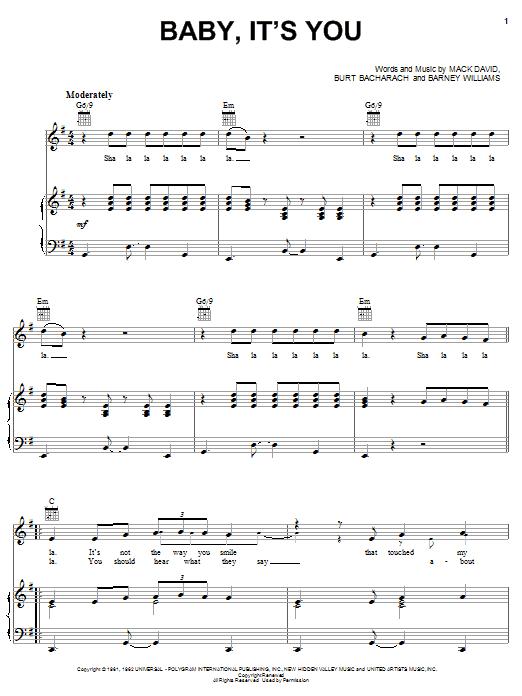 Baby, It's You sheet music