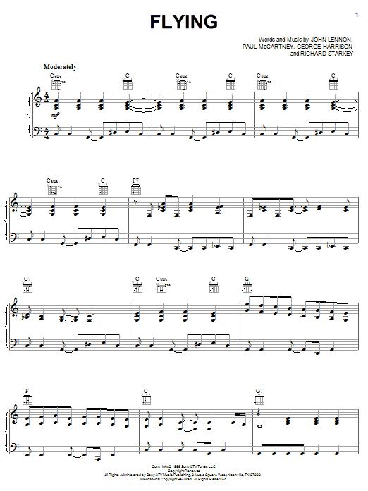 Flying sheet music