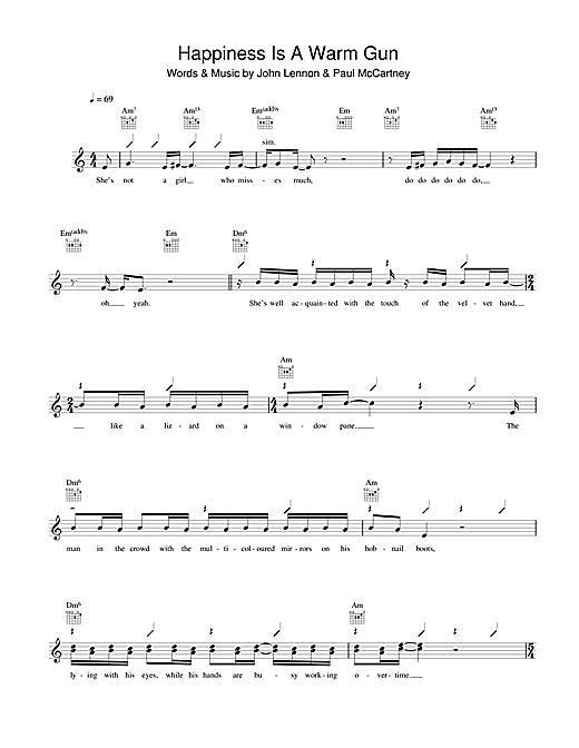 Happiness Is A Warm Gun sheet music