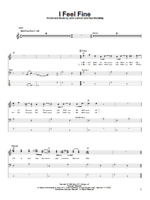 I Feel Fine sheet music