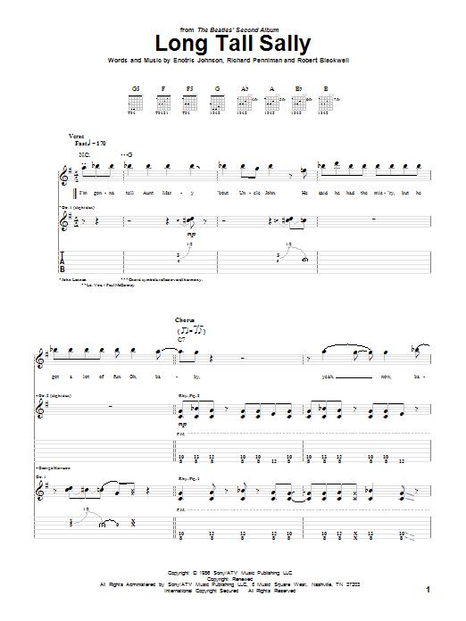 Long Tall Sally sheet music