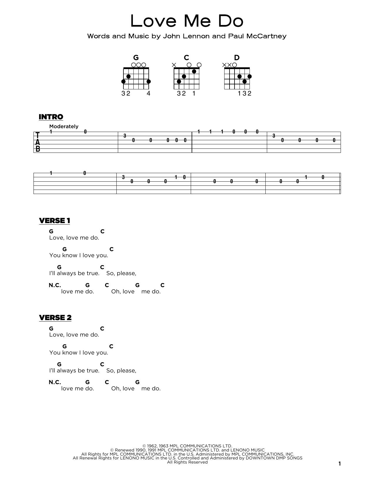 Love Me Do sheet music