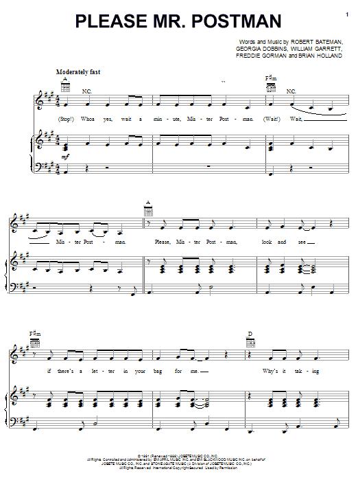Please Mr. Postman sheet music