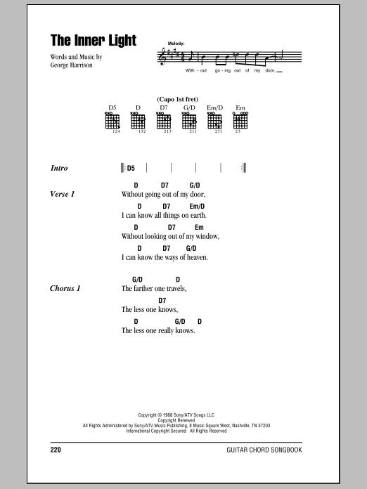 The Inner Light sheet music