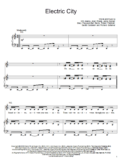 Electric City sheet music